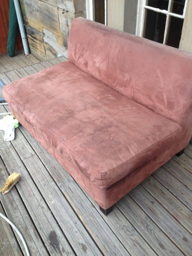 hotel du vin upholstery before cleaning process.